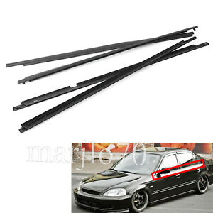 4pcs Car Outside Window Door Belt Weatherstrip For Toyota Corolla 2009 2010