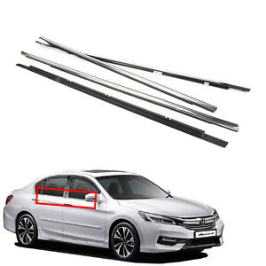 4x Car Outside Window Moulding Weatherstrip Seal Belt Fit For 2008 Honda Accord