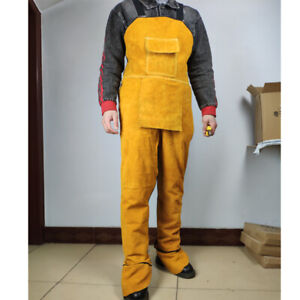 Cowhide Leather Aprons Welding Clothes Safety Workwear For Welder Heat resistant
