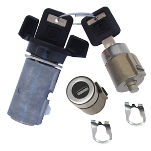 Gm Oem Ignition Key Switch Lock Cylinder Door Lock Tumbler Barrel Set 2 Keys