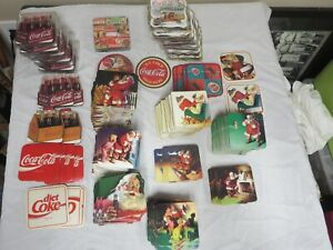 LARGE LOT OF COCA COLA COASTERS 270 OF THEM NEW OLD STOCK