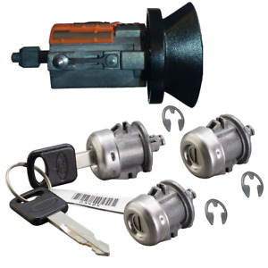 Ford Ignition Key Switch Lock Cylinder Two Door Lock Tailgate Set 2 Keys