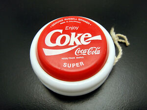 Vintage Philippines Russell Coca Cola Coke Red White Super Yo Yo Spinner