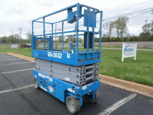 2013 Genie Gs2632 26 Electric Slab Scissor Lift 26ft Platform Lift Man Lift