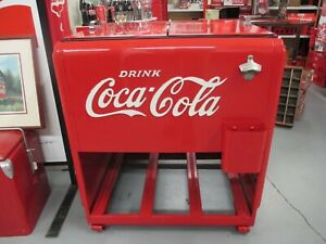 1930's COCA-COLA Standard Ice Cooler - Refurbished and Repainted 2010s