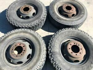 00 02 Dodge Ram 3500 Set Of 4 16x6 Dually Steel Wheels Rims No Tires
