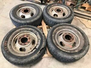 03 17 Express 3500 Used Set Of 4 Dually Steel Wheels W Tires 16x6 1 2