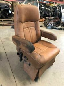 2013 Holiday Rambler Rv Motorhome Used Smoked Residue Left Bucket Leather Seat
