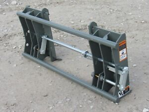 Skid Steer Quick Attach To Euro Global Quicke Loader Adapter Attachment 835020