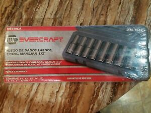 Brand New Factory Sealed Napa Evercraft 1 2 In Dr 9 Pc Deep Socket Set