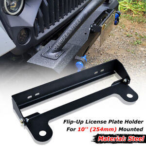 For 10 Mount Hole Hawse Fairlead Stainless Steel Flip up License Plate Holder