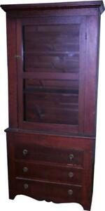 18257 Country Step Back Cabinet Cupboard With Drawers