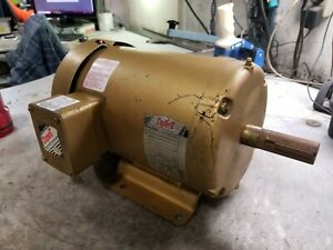 Baldor 3 Hp Electric Ac Motor 230 460 Vac 3500 Rpm 182t Frame 3 Phase Em3610t