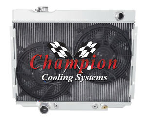 3 Row Sz Champion Radiator W 2 12 Fans For 1967 1969 Ford Ranchero V8 Engine