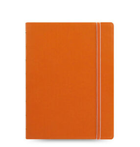 New Filofax A5 Refillable Leather look Ruled Notebook Diary Orange 115010