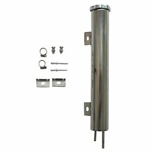 2 X 15 24oz Polished Stainless Steel Radiator Coolant Overflow Puke Tank Can