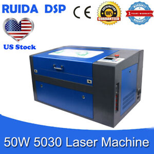 Ruida Dsp Controller 50w 5030 Co2 Laser Engraving Cutting Machine Us Stock