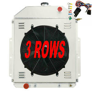 3 Row Radiator Shroud Fan Thermostat For 1942 1952 Ford Truck F1 F2 F3 Ford V8