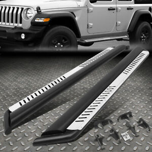 For 18 20 Jeep Wrangler Jl Side Nerf Bar Running Boards W dropped Step Plates