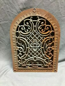 Antique Arched Top Heat Grate Gothic Maltese Cross Arch 9x12 Vtg 32 20b