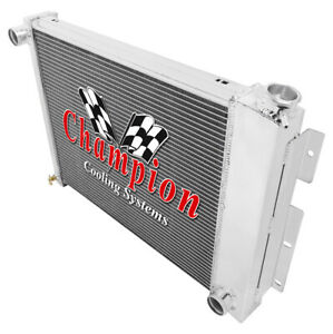 3 Row Sz Champion Radiator For 1967 1968 1969 Camaro Small Block Manual Trans
