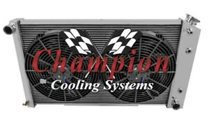 3 Row Sz Champion Radiator 17 X28 2 14 Fans For 1967 1977 Pontiac Grand Prix