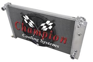 3 Row Sz Champion Radiator 17 X28 16 Fan For 1967 1977 Pontiac Grand Prix