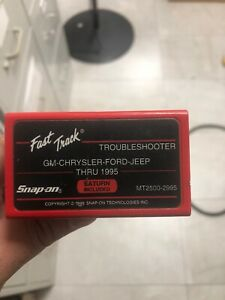 Snap on Fast Track Troubleshooter Gm Chrysler Ford Jeep Thru 1995 Mt2500 2995