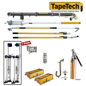 Tapetech Drywall Taping Tools Carbon Taper Pro Full Extender Set W Mudrunner