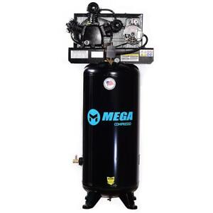 Mega Power Mp 6560v2 230v 5 Hp Vertical Air Compressor W Two Stage Pump