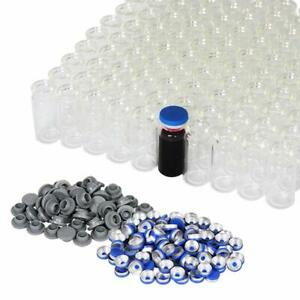 10ml Vials transparent Glass Headspace Vials With Plastic aluminum Flip Off Caps