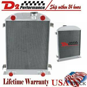 4 Row core All Aluminum Radiator For 1932 Ford Flat Head V8 Engine Stock Height