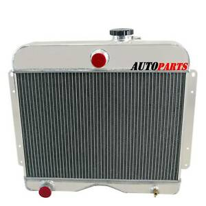 4 Row Aluminum Radiator For Jeep Willys Station Wagon Truck 475 L4 L6 1946 1964