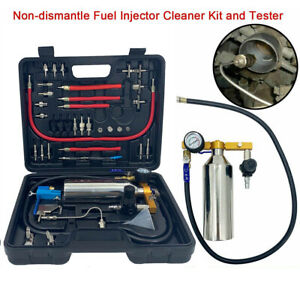 Portable Fuel Injector Nozzle Air Injection Cleaner Kit Box Non Dismantle 800ml