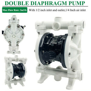 Double Diaphragm Pump air operated 1 2 Inlet outlet 14gpm Industrial Qbk 15pp