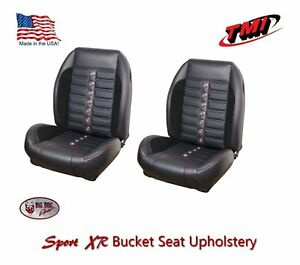 Sport Xr Front Bucket Seat Upholstery 1968 69 Mustang Coupe Convertible 2 2