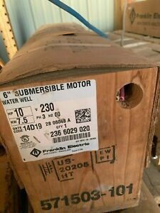 Franklin Electric 2366029020 Water Well Motor W o Subtrol 6 10 hp 230 volts 6