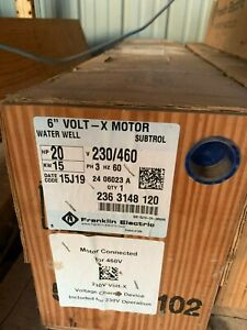 Franklin Electric 2363148120 Sand Fighter Motor 6 20 hp 230 460 Vac Volt x 3p