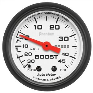 Autometer 5708 Phantom Mechanical Boost Vacuum Gauge