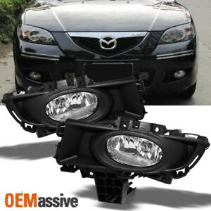 Fit 2007 2009 Mazda 3 Mazda3 Sedan Bumper Fog Lights W Bulbs Switch 07 09 L R