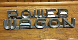 1960s Dodge Truck Power Wagon Emblem Badge Trim W100 W200 W300 Mopar Oem Usa Vtg