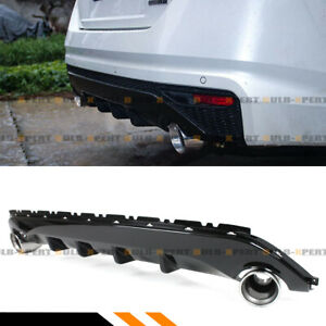 For 19 2020 Nissan Altima S Black Shark Fin Rear Bumper Diffuser Exhaust Tips