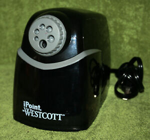 Westcott Ipoint Multi hole Heavy Duty School Pencil Sharpener Black Non stick