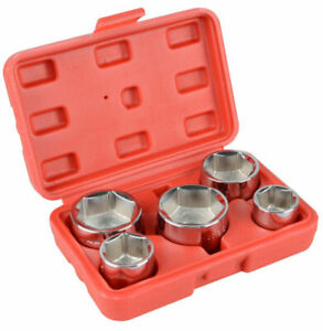 5pc 3 8 Inch Drive Oil Filter Remover Socket Set Universal Wrench Tool Kit Us