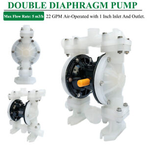 Double Diaphragm Pump 22gpm Air operated 1 inlet outlet Acid alkali Industrial