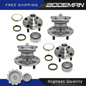 Front Rear Wheel Hub Bearing Set For 1993 2002 Toyota Corolla Chevy Geo Prizm