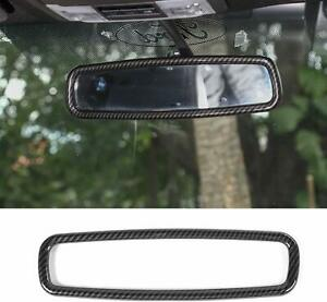 Rearview Mirror Frame Abs Bezel Cover Trim For Ford F150 Mustang Carbon Fiber