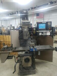 3 Axis Hh Roberts Cnc Vertical Knee Mill With Anilam 3300mk Control