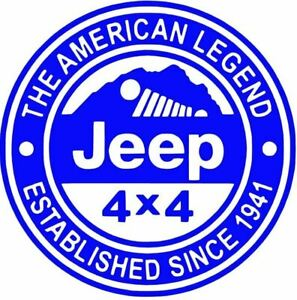 Jeep 1941 4x4 Vinyl Decal Sticker For Jeep Car Truck Bumper Wall Window
