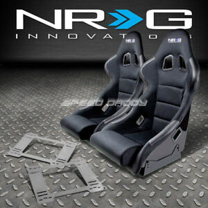 Nrg Type R Deep Bucket Racing Seat Stainless Steel Bracket For 92 99 Bmw E36 2dr